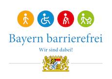 Logo zu Bayern Barrierefrei - Wir sind dabei