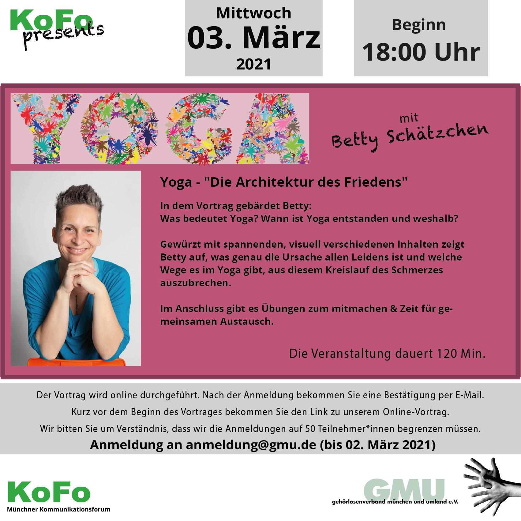 KoFo online: Yoga - die Architektur des Friedens am 3. März 2021 um 18 Uhr